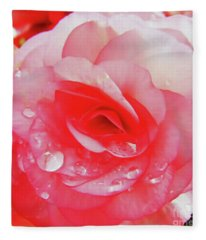 Rose After The Rain Fleece Blanket