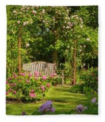 Rose Arbor Fleece Blanket