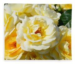 Rose Bush Fleece Blanket