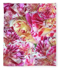 Rose Collage Fleece Blanket
