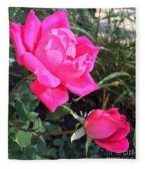 Rose Duet Fleece Blanket