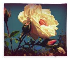 Rose Facing The Sun Fleece Blanket