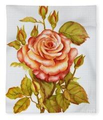 Rose For My Mom Fleece Blanket