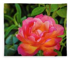 Rose In The Evening Fleece Blanket
