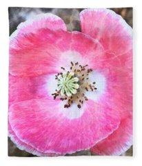 Rose Marble Fleece Blanket