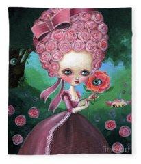 Rose Marie Antoinette Fleece Blanket