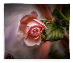 Rose On Paint #g5 Fleece Blanket