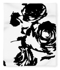 Rose Outline Fleece Blanket