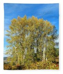 Rosehips And Cottonwoods Fleece Blanket