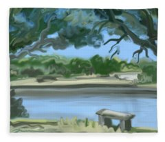 Rosemary Lake Fleece Blanket