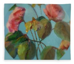 Roses And Wildflowers Fleece Blanket