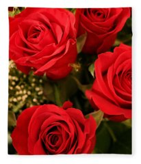 Roses Are Red Fleece Blanket
