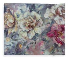 Roses From A Friend Fleece Blanket