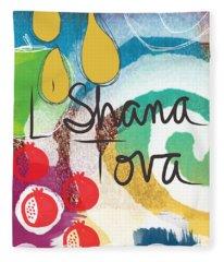 Rosh Hashanah Sampler- Art By Linda Woods Fleece Blanket