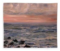 Rosy Dawn Fleece Blanket