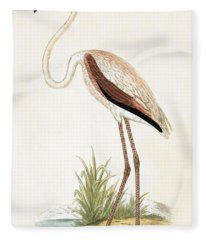 Rosy Flamingo Fleece Blanket