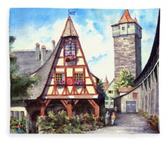 Rothenburg Memories Fleece Blanket