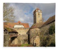 Rothenburg Ob Der Tauber From Outside Fleece Blanket