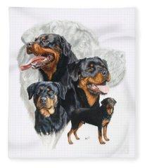 Rottweiler Medley Fleece Blanket