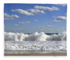 Rough Surf Jersey Shore  Fleece Blanket