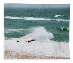 Rough Water Fleece Blanket