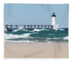 Rough Waters Fleece Blanket