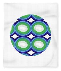 Round And Round Ball- Art By Linda Woods Fleece Blanket
