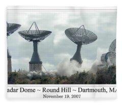 Round Hill Radar Demolition Fleece Blanket