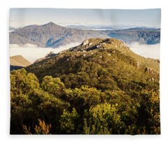 Round Mountain Lookout Fleece Blanket