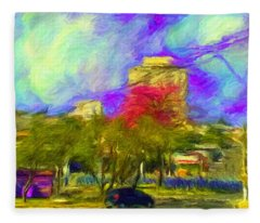 Roundabout In Franca Do Imperador  Fleece Blanket