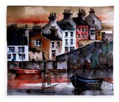 Roundstone Dusk, Galway Fleece Blanket