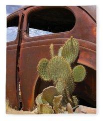 Route 66 Cactus Fleece Blanket