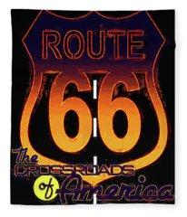 Route 66 Fleece Blanket