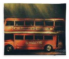 Routemaster Bus Station Fleece Blanket