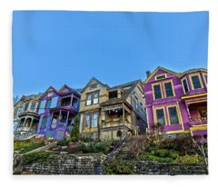 Row Houses Fleece Blanket