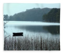 Rowboat On Muckross Lake Fleece Blanket