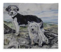 Roxie And Skye Fleece Blanket