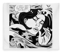 Drowning Girl  Fleece Blanket