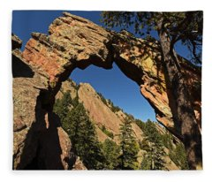 Royal Arch Trail Arch Boulder Colorado Fleece Blanket