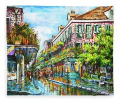 Royal At Pere Antoine Alley, New Orleans French Quarter Fleece Blanket