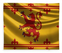 Royal Banner Of The Royal Arms Of Scotland Fleece Blanket