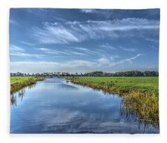 Royal Canal And Grasslands Fleece Blanket