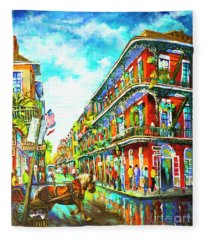 Royal Carriage - New Orleans French Quarter Fleece Blanket