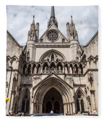 Royal Courts Of Justice In London Fleece Blanket