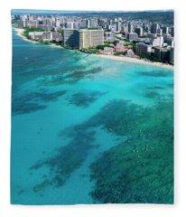 Royal Hawaiian Hotel, Waikiki Fleece Blanket