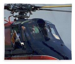 Royal Helicopter Fleece Blanket