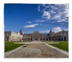 Royal Palace Of Aranjuez Fleece Blanket