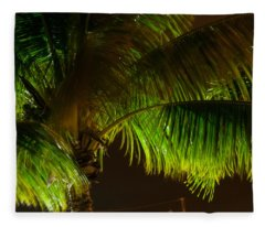 Royal Palm Night Out Fleece Blanket