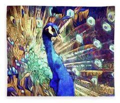 Royal Peacock Fleece Blanket