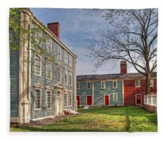 Royall House And Slave Quarters Fleece Blanket